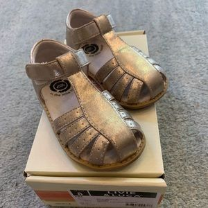 Livie & Luca Paz Sandals Gold Toddler Size 8